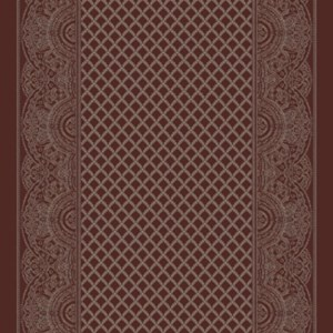 paisley shawl corridor 195 cm  red
