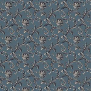 scroll rose  light blue