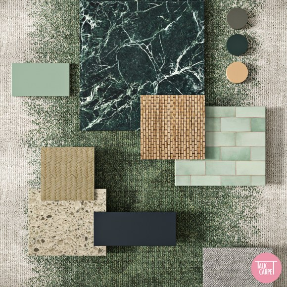 gradient carpet, Gradient carpet and forest neutrals inspired by SS21 Undercover look