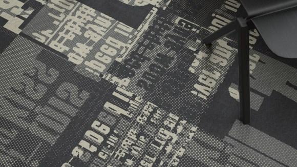 graffiti carpet tile, Ellery SS21 graffiti print dress inspired this graffiti carpet tile palette
