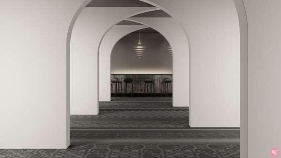 modern persian carpet, Modern Persian carpet inspired by Anila Agha's visionary art installation
