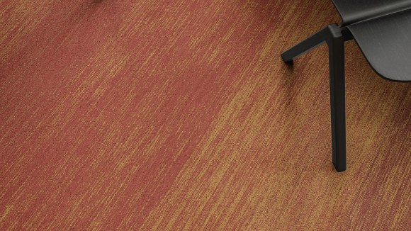gradient carpet, Gradient carpet inspired by signature ochre and burgundy Antigua colors