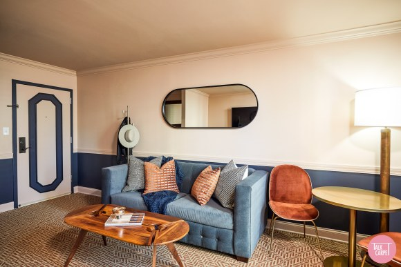 personalized carpets, Personalized carpets bring a modern twist to the Oliver hotel in Knoxville