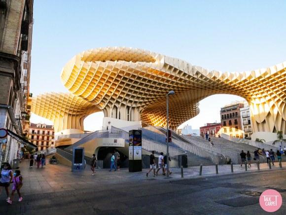 parasol seville, Las Setas Seville, an architectural wooden parasol by Jürgen Mayer