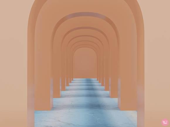 asymmetrical pattern, Asymmetrical pattern incorporating gradient carpet technology