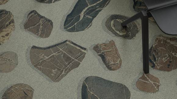 stone carpet, Cobble stone carpet and vibrant colors on our Bo Kaap materials palette