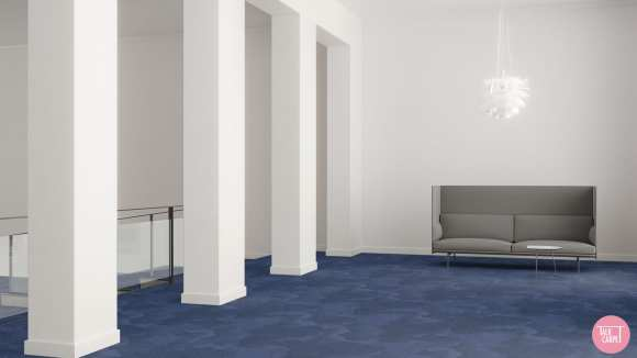 blue marine carpet, Blue marine carpet and palette reflecting the Cape Town waters