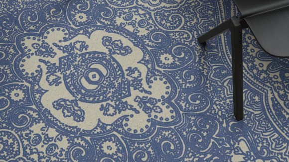 blue persian rug, Blue Persian rug inspired by our visit to Ardean Gallery in Yerevan
