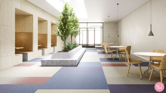 gradient effect carpet, Gradient effect carpet inspired by Chicago based Mikaela & Co