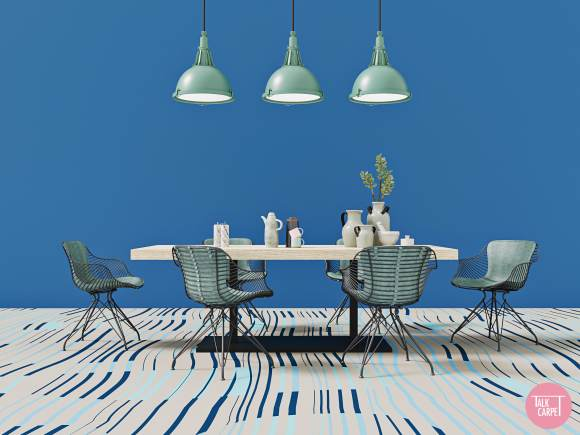 wave carpet, Wave carpet that blends shapes and lines into a soothing pattern