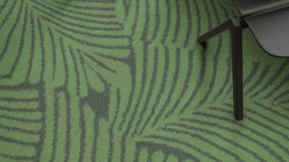 palm leaves carpet, Customizable palm leaves carpet on trend for biophilic design projects