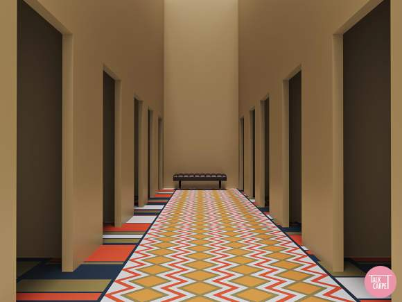mondrian carpet, Mondrian and Missoni style patterns at an ancient Egyptian tomb