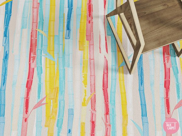 bamboo carpet, Bamboo carpet that gives new meaning to multicolored designs