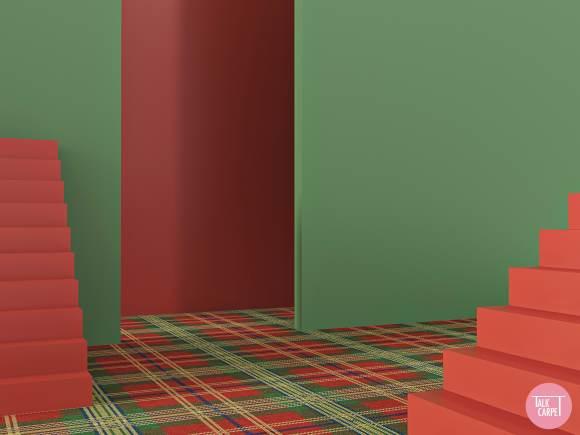 plaid carpet, Plaid carpet with a distinct South African flair and color vibrancy