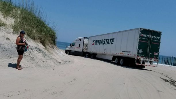 Beaching Trucker