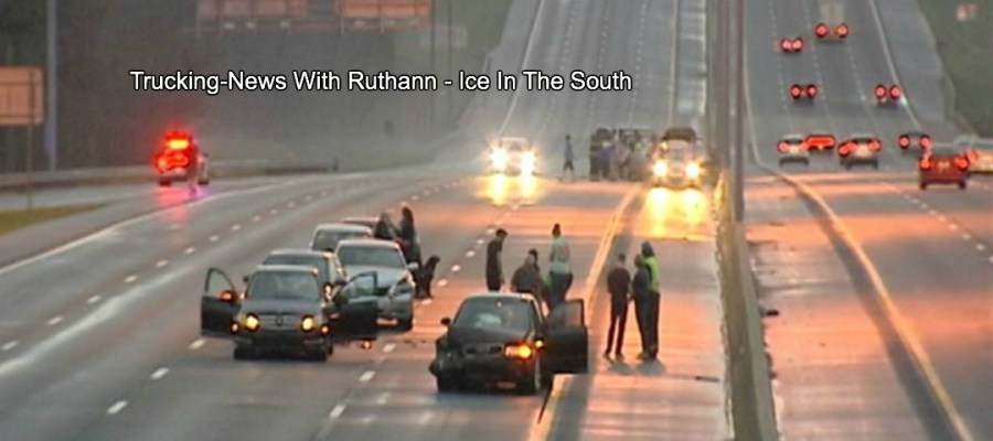 Trucking-News With Ruthann - Ice In The South