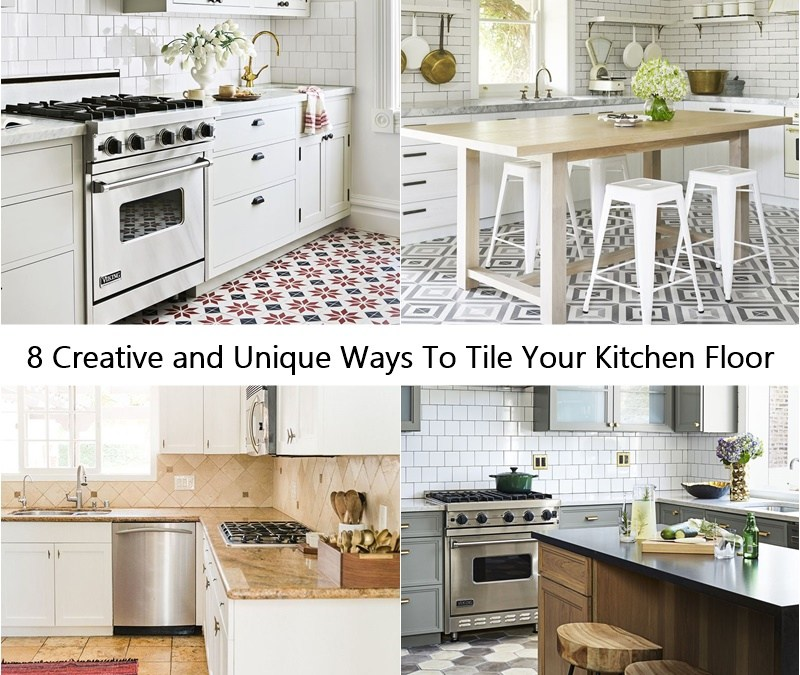 8 Creative and Unique Ways To Tile Your Kitchen Floor