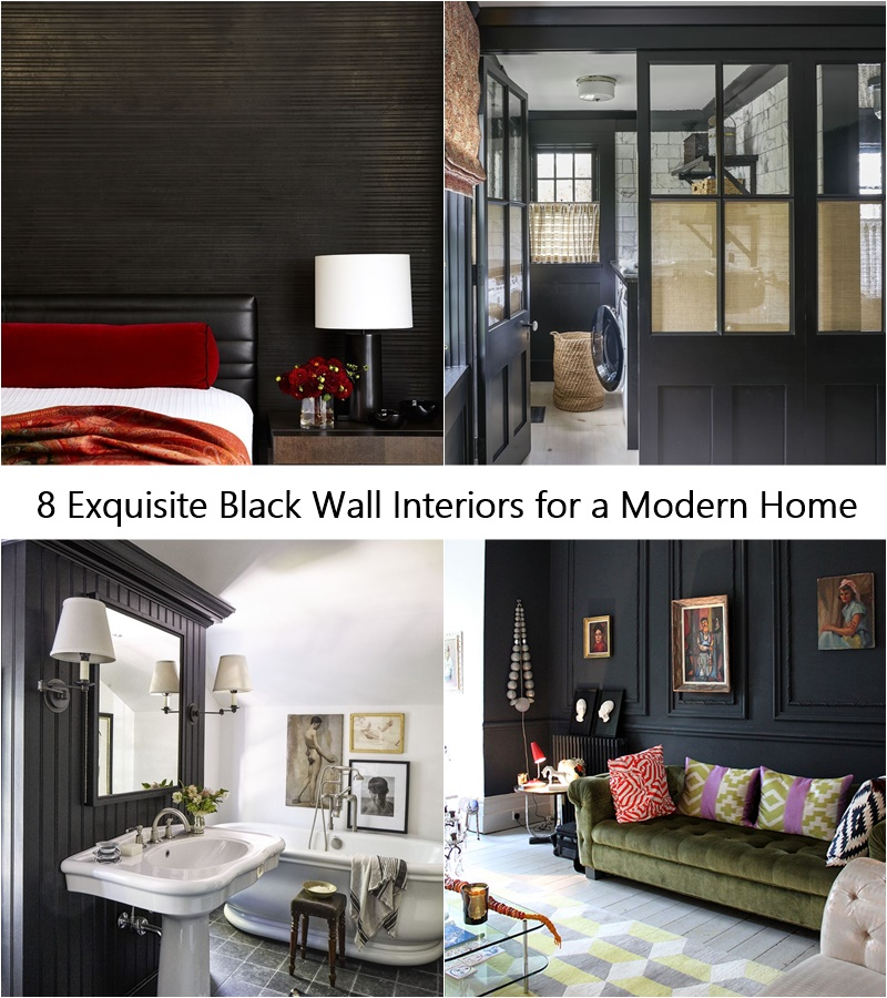 8 Exquisite Black Wall Interiors for a Modern Home