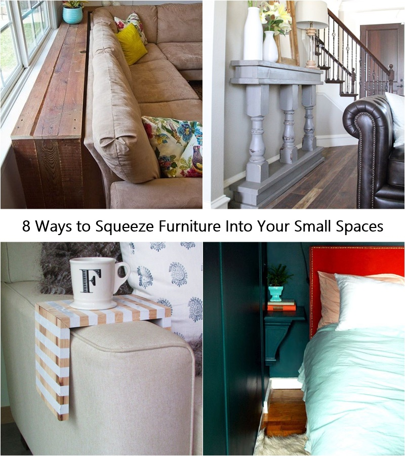 8 Ways to Squeeze Furniture Into Your Small Spaces