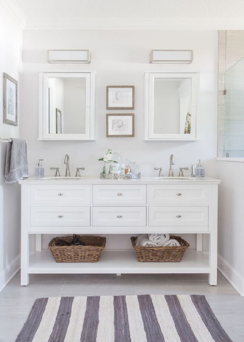 Clean White Bathroom