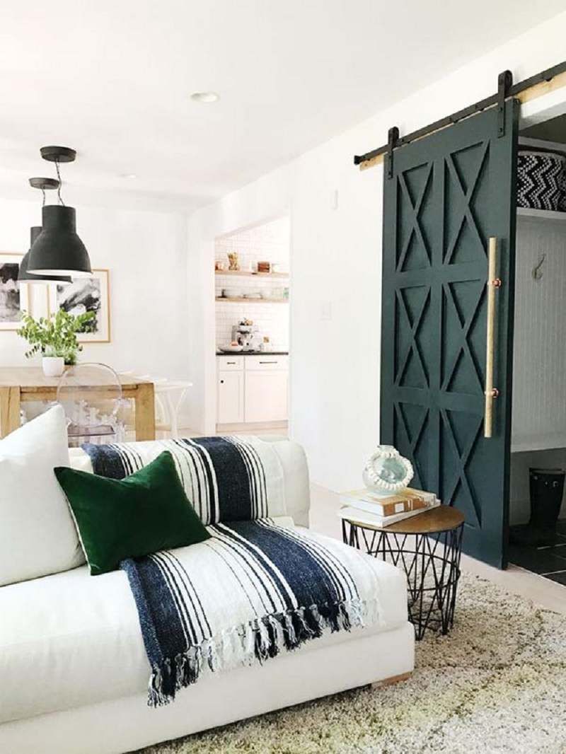 Timeless Barn Style Bedroom Door