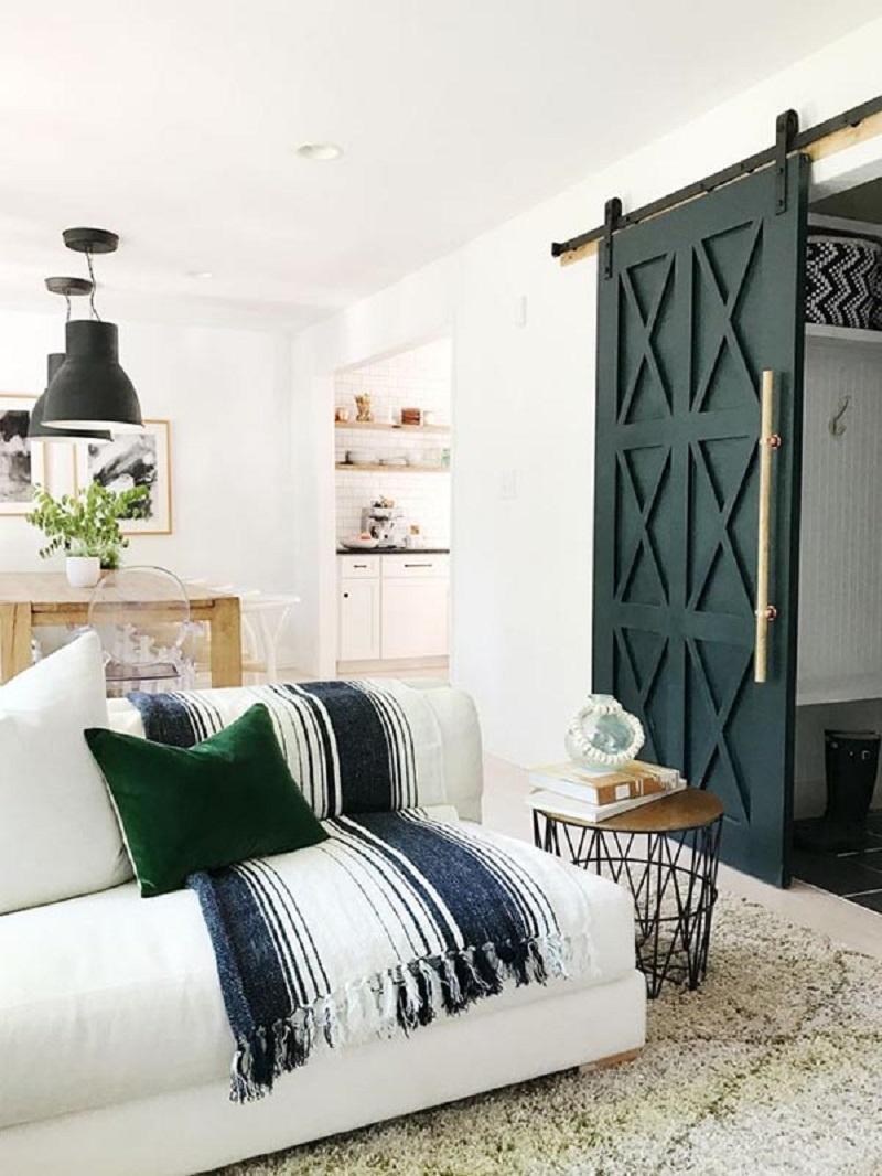 Timeless Barn Style Bedroom Door