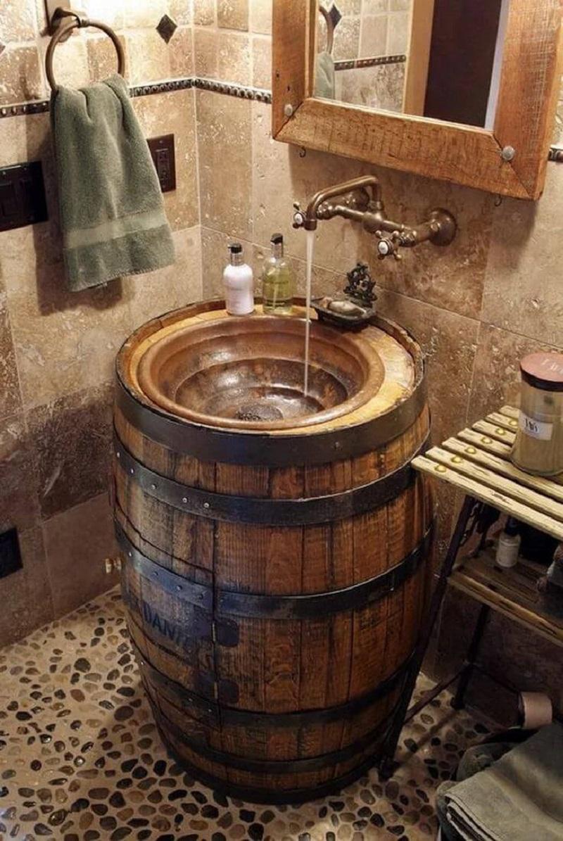 Tuscan Cottage Repurposed Sink
