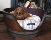 Vino Dog Repurposed Barrel Bed