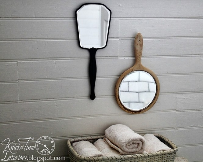Vintage Hand Mirrors On The Wall