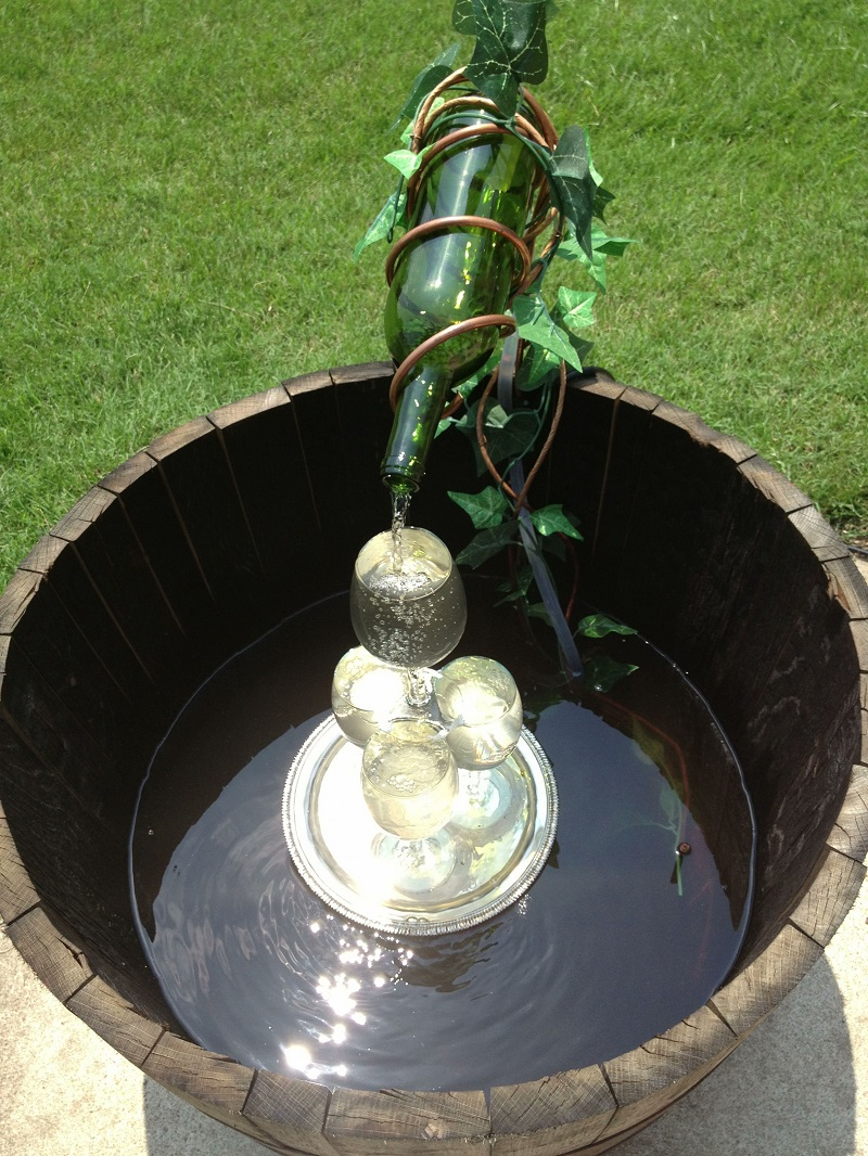 Beautiful Backyard Water Fountain Ideas DIY Wine Barrel Fountain Craft Ideas Pinterest
