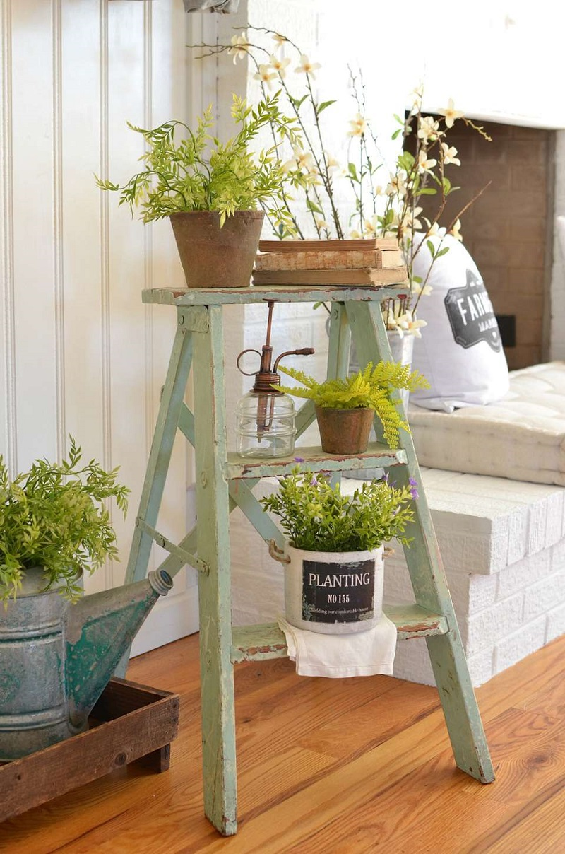 Wooden Ladder For Planters