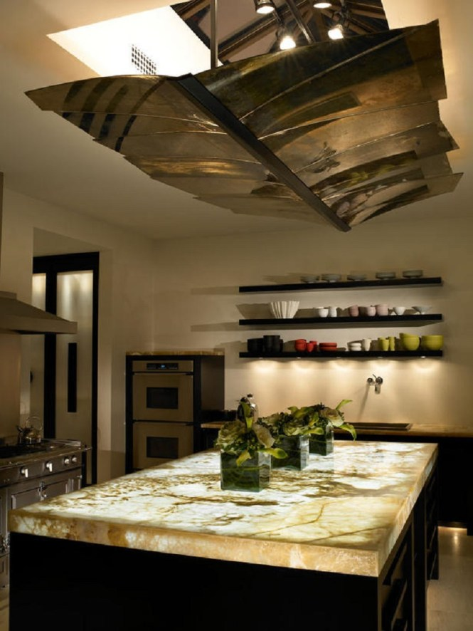 Contemporary Kitchen With Onyx