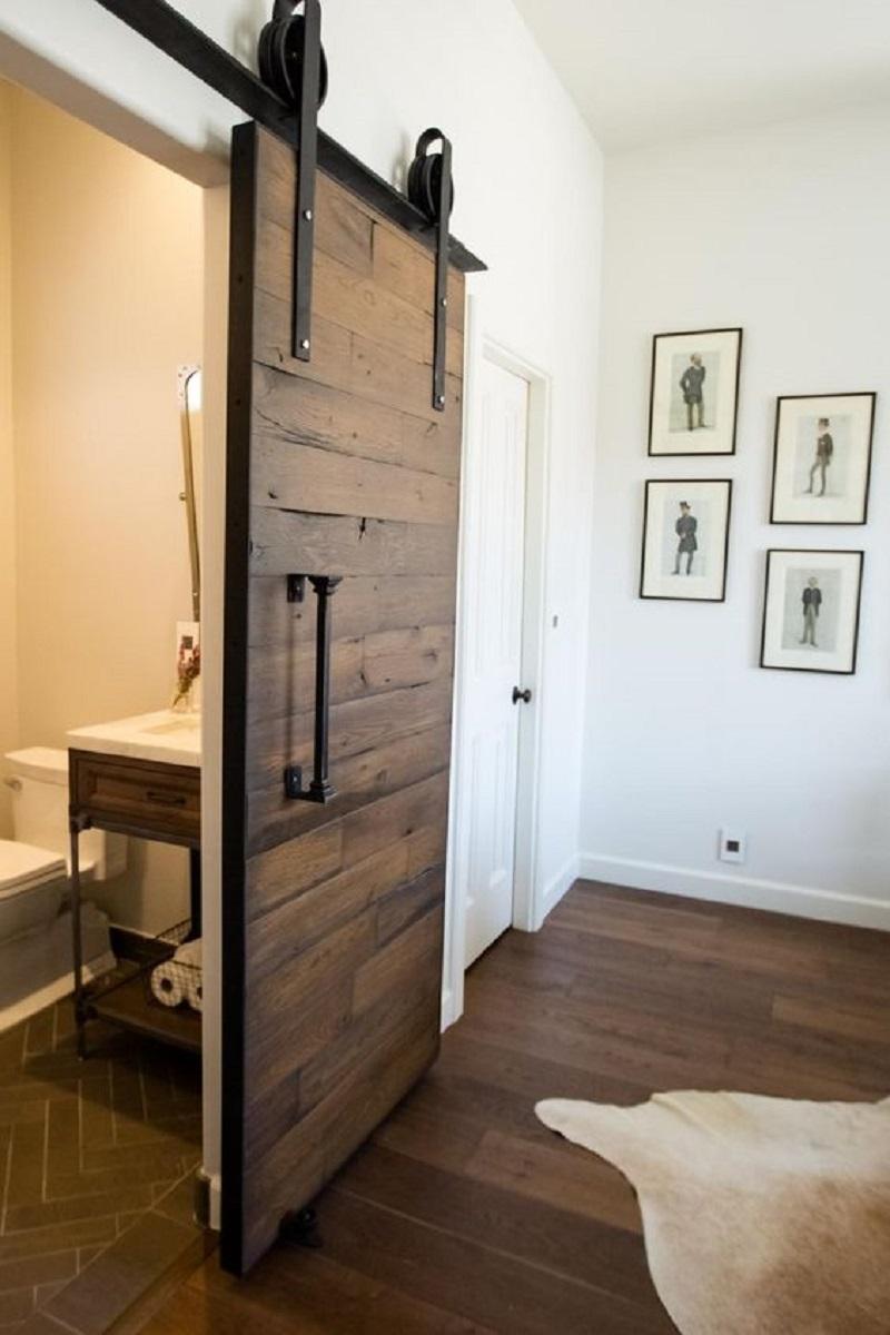 Reclaimed Wood Bedroom Barn Door