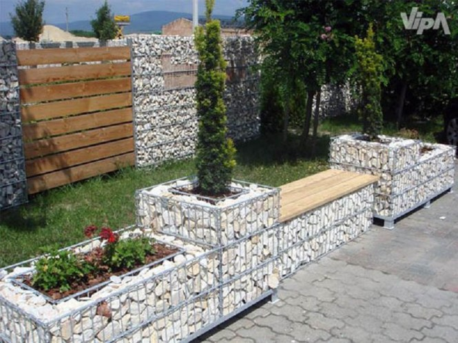Urban Gabion Decor