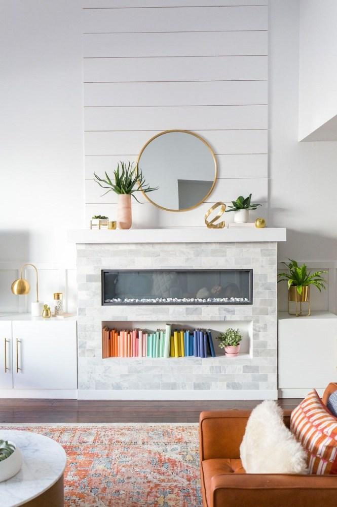 Wood Paneled Living Room