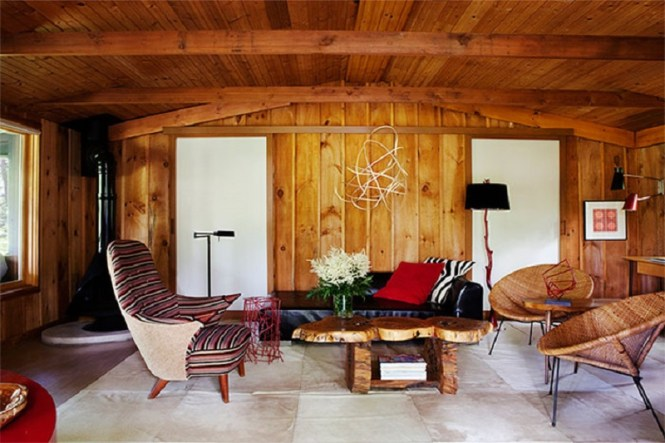 Walls Of Wood With Curve Ceiling