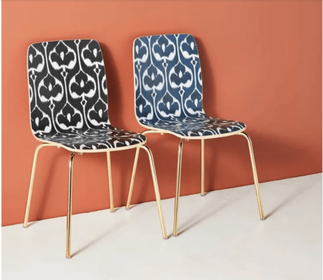 Anthropologie Ikat Tamsin Dining Chair