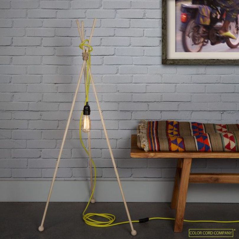 DIY Mod Lamp In Room