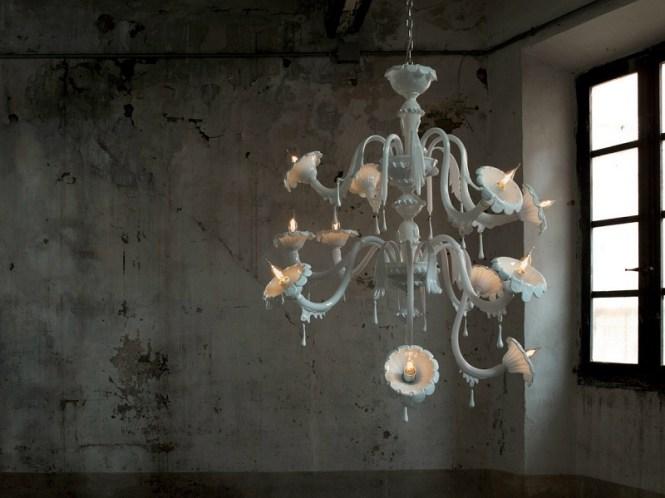 Modern Melodrama Glass Chandelier
