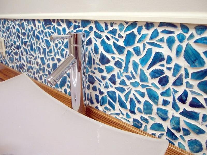 Mason Jar Mosaic Backsplash