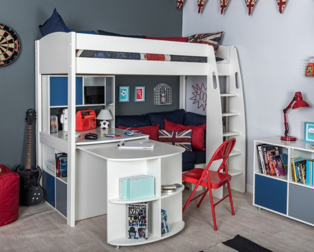 Adorable Loft Bed With Fixed Table