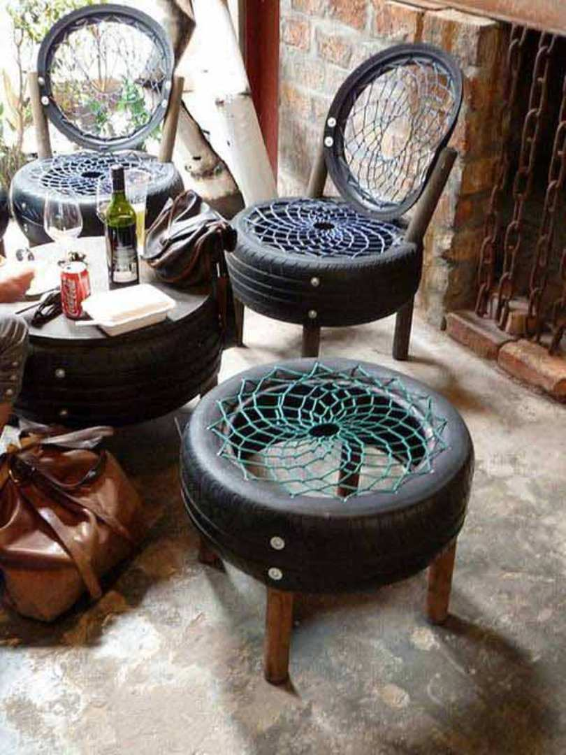 Black Tire Chairs