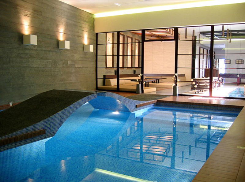 Blue Indoor Pool