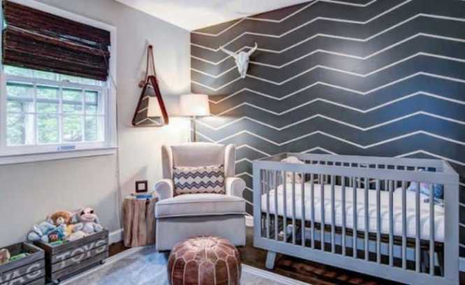 Chevron Wall For Nursery Room