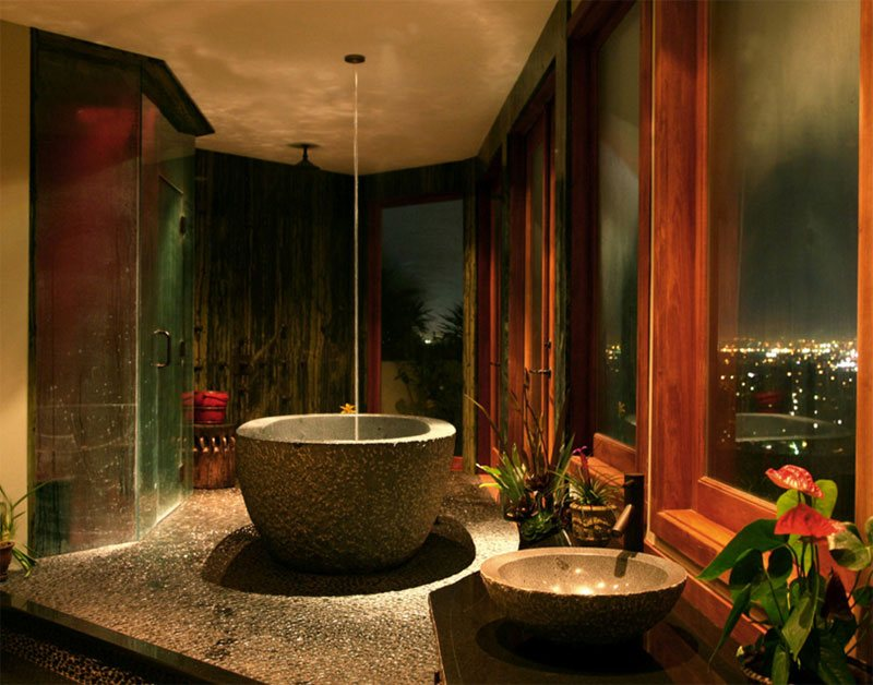 Contemporary Tropical Bath