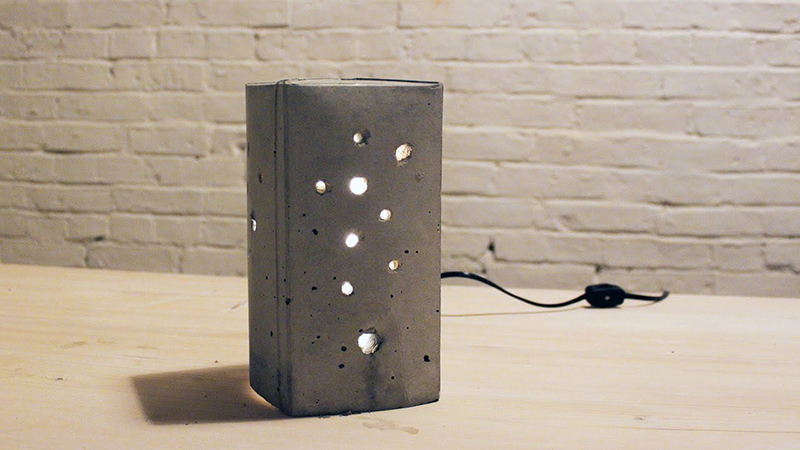 DIY Concrete Lamp