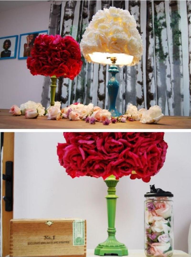 DIY Faux Flower Lampshade