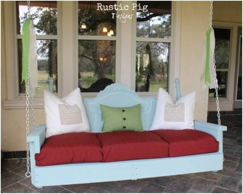 Headboard Porch Swing