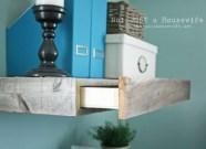 Hidden Storage On A Shelf