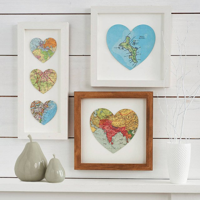 Map Heart Art